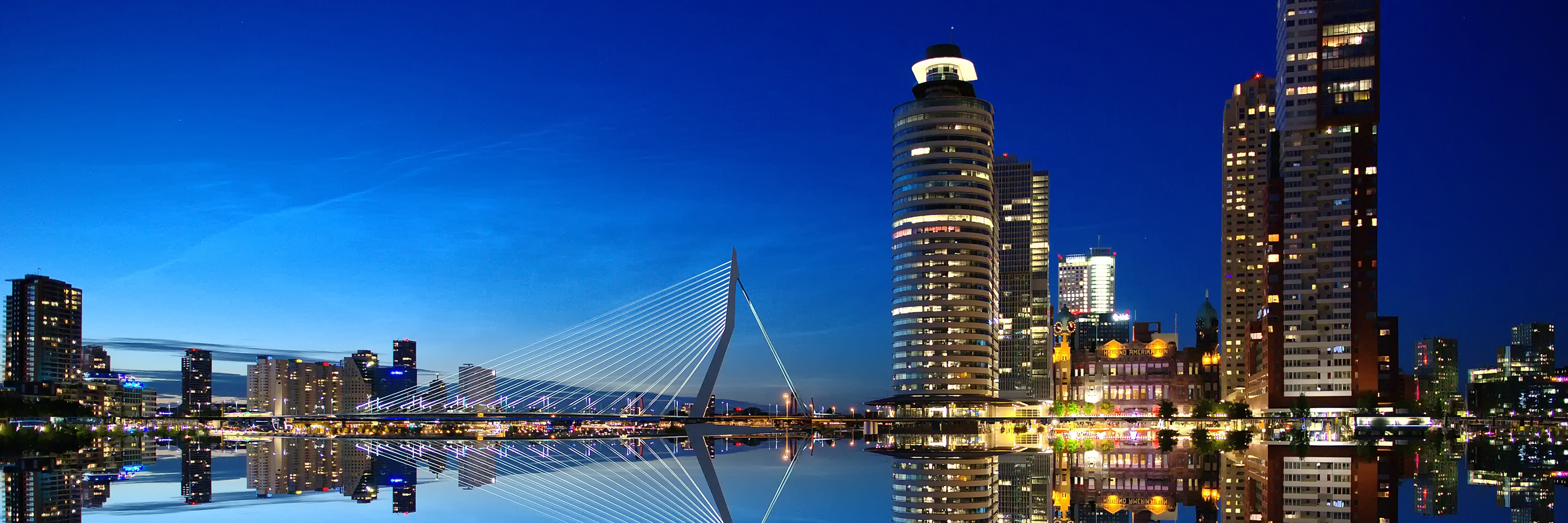 Rotterdam city skyline in the Netherlands.