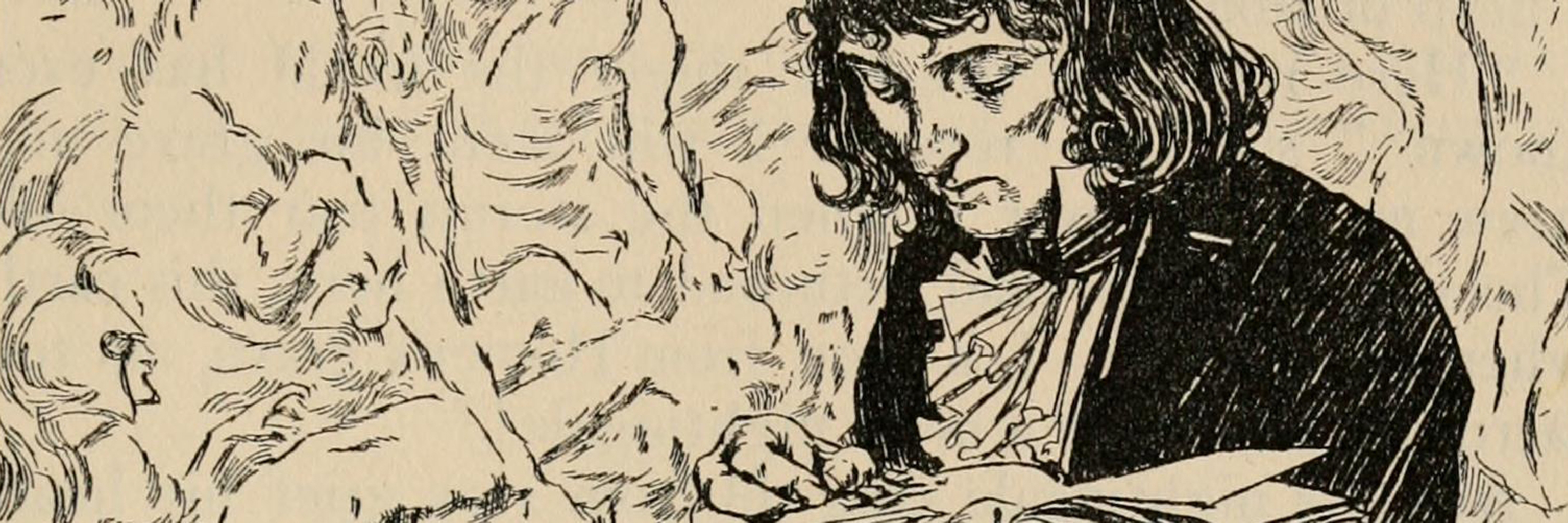 Closeup of an illustration from Hans Christian Anderson book, Fairy tales from Hans Christian Anderson.