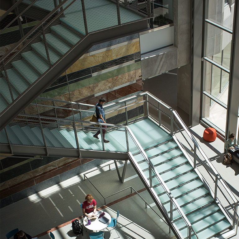 Atrium of global and international studies building